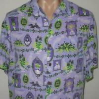 SHAG Disneyland Disney 40th Year Haunted Mansion XL Aloha Tiki Shirt 999 Purple