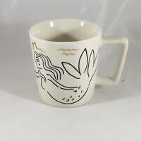 Starbucks Mermaid Siren Ceramic 2017 Anniversary Coffee Cup Mug 12 Oz