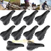 Lot Bike Bicycle Pro Road Saddle MTB Sport Hollow Saddle Seat Black Soft Comfort