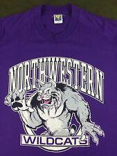 Vintage Mens XL 80s 90s Northwestern University Wildcats College Purple T-Shirt