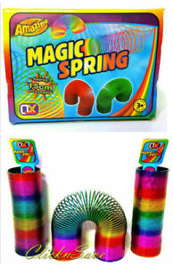 15cm Large Rainbow Magic Spring Coil Slinky Fun Toy Stretching 10m Bouncing