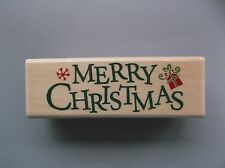 STAMPABILITIES RUBBER STAMPS MERRY CHRISTMAS STAMP