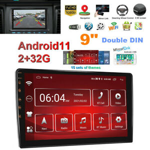 """9"""" Android 11 Double DIN Car Stereo Radio Navigation 2+32G Reversing Video Unit"""