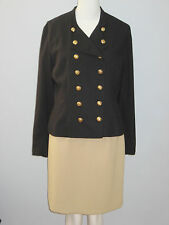 MARK EDWARDS Size 12 Black Fully Lined Blazer (Made in Canada)