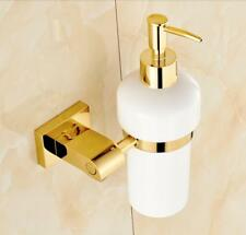 Bathroom Brass Soap Dispenser Wall Mount Holder Shower Lotion Ceramic Bottle D31