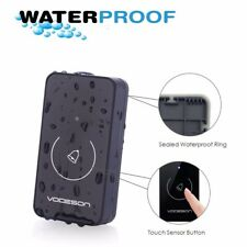 Wireless Doorbell 1 Receiver & 1 Push Button with Sound and LED Flash,36 Melodie
