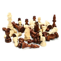 New Wooden International Chess Set 32 Pieces Available 2 Colour