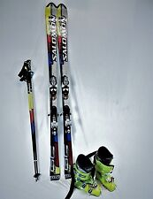 SALOMON STREET RACER Ski Package WITH HIGH END BOOTS, BINDINGS FITTED PLUS POLES