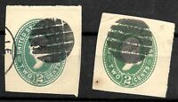 "Fancy Cancel ""Bold Grids"" 19th C 2 Cent Postal Stationary Corner US Stamps 75b43"