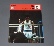 FICHE BOXE BOXING 1976 RAY CHARLES LEONARD JEUX OLYMPIQUES MONTREAL