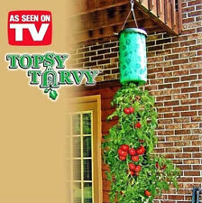 TOPSY TURVY,UPSIDE DOWN TOMATO PLANTER SYSTEM,GROW UP TO 30 LBS,NEW & IMPROVED