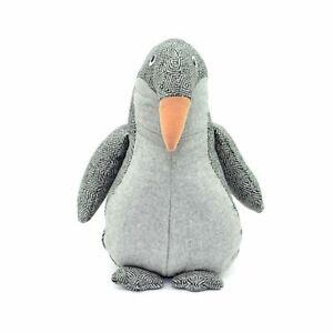 Kids Room Home Decoration Grey Heavy Penguin Door Stopper Febric Animal Present