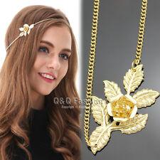 Roman Great Gatsby Gold Laural Leaf Flower Head Chain Hair Dress Piece Band