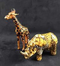 La Vie Resin Rhino And Resin Giraffe Figures
