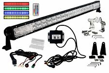 "RGB Series 50"" OZ-USA®  multicolor roof rack LED Light bar DRL Bluetooth 4x4 rv"
