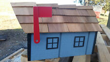 Amish Crafted Blue (Black Trim) Barn Style Mailbox - Lancaster County PA