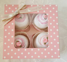 Nappy Cake Cupcake Socks Gift Box - Girl & Boy / Baby Gift / Baby Shower / Socks