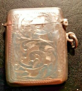 Antique Silver Vesta Case by Williams Ltd Birmingham 1908