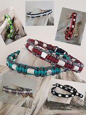 Tolles EM-Keramik Halsband Zeckenschutz mit Schmuck-Beads in Ihrer Wunschfarbe
