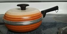 Regalware Enamel Pot With Lid 1 qt Brown Made In The USA Vintage