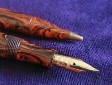 Waterman 52 Canadian Red Ripple Semi Flex Fountain Pen & Mechanical Pencil Set