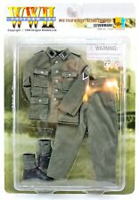 """WWII German Uniform M43 FIELD BLOUSE Acting Corporal CPL Uniform PFC for 12"""" Fig"""