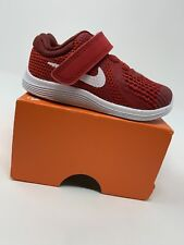 BABY BOYS: Nike Revolution 4 Shoes, Red - Size 5C 943304-601