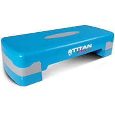 "Titan Fitness Aerobic Step 27"" Stepper w/Risers Cardio Adjust 4"" - 6"" Exercise"