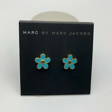 MARC JACOBS EARRINGS! Daisy Stud Earrings in BLUE! NWT/Dustbag :)
