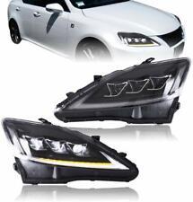 Para Lexus Faros IS250/220/300/350 2006-12 LED Luces delanteras Lámparas LHD
