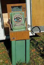 Vintage METAL TYPER ARCADE TOKEN STAMP MACHINE  Coin Operated Op