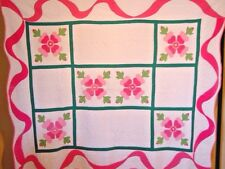 ANTIQUE APPLIQUE ROSE QUILT  SWAG BORDERS 300+ MORE QUILTS IN OUR  STORE!