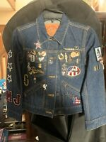 Authentic NWT Marc Jacobs Denim Jacket Size S Mermaid Beads Us Flag Resin Rinse