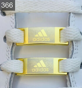 ✅ Neue Adidas Superstar NMD UltraBoost Schnallen Lace Locks Gold 2 Stück ✅