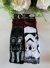 Star Wars Athletic Crew Socks 2 Pairs Shoe Size 6 -12 Match or Mismatch Them