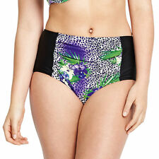 Simply Fab Plus Size 24 Animal Floral 50's High Waist Be Bikini Bottoms £22