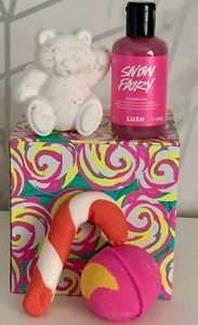 Lush Christmas Candy Box Gift Sets Snow Fairy Shower Gel  Candy cane Bubble Bar