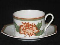 Fitz & Floyd Chrysantheme Teacup Cup & Saucer Set