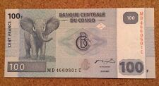 World Banknote. Congo. 100 Francs. Uncirculated. Dated 2007.