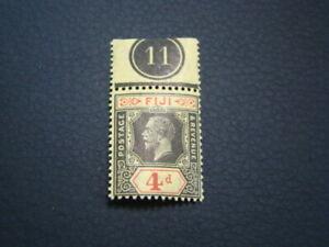 Fiji Scott #100 Plate # Single Mint Never Hinged