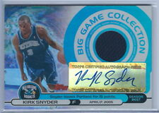 2005-2006 Topps Big Game Collection Kirk Snyder Hornets Auto Jersey RC #028/115