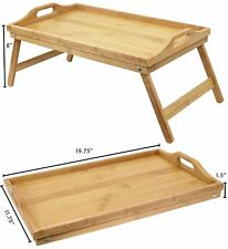 Luxurious Breakfast In Bed Bamboo Lap Tray / Laptop Desk / Kids Floor Table US