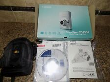 CANON POWERSHOT SD1000 DIGITAL ELPH 7.1 MP CAMERA , CASE, CHARGER COMPLETE GREAT
