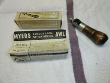 New listing Complete Myers Sewing Awl Kit - Vintage Leather Sewing Awl - C A Myers Co.