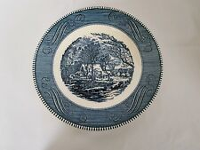 "CURRIER AND IVES ROYAL IRONSTONE CHINA USA 10"" DINNER PLATE THE OLD GRIST MILL"
