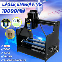 10W 10x24CM Desktop Laser Engraving Machine CNC DIY Metal Wood Printer  Q