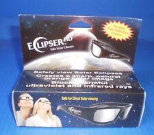 NEW ECLIPSER Safe HD 3D Solar Glasses - Black w protective bag in original box