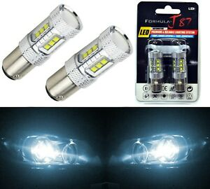 LED Light 80W 2357 White 6000K Two Bulbs Front Turn Signal Replacement Upgrade