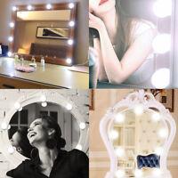 10 LED Kosmetikspiegel Licht Kit mit Dimmbaren Schminkspiegel Lichter Lampe USB