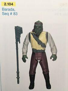 STARWARS BARADA Seq # 88 Star Wars Vintage Original Kenner LAST 17